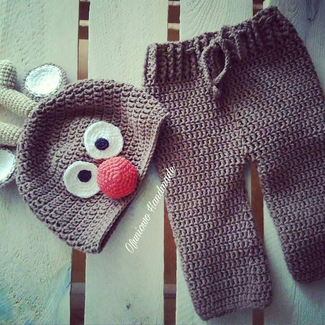 Crochet reindeer - Ofuniowo Handmade