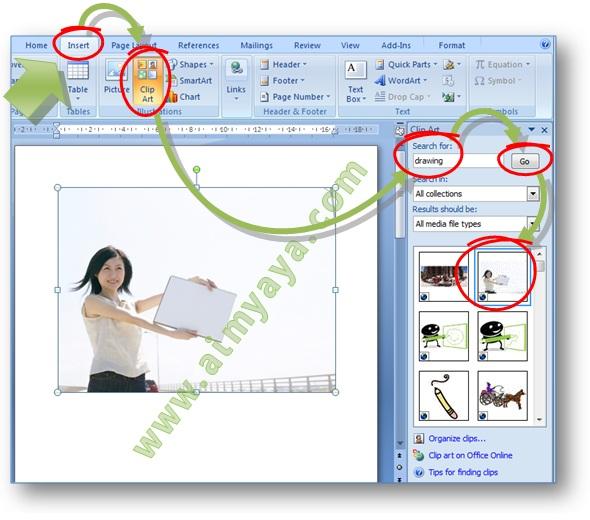 cara menyisipkan clipart pada microsoft word 2007 - photo #1