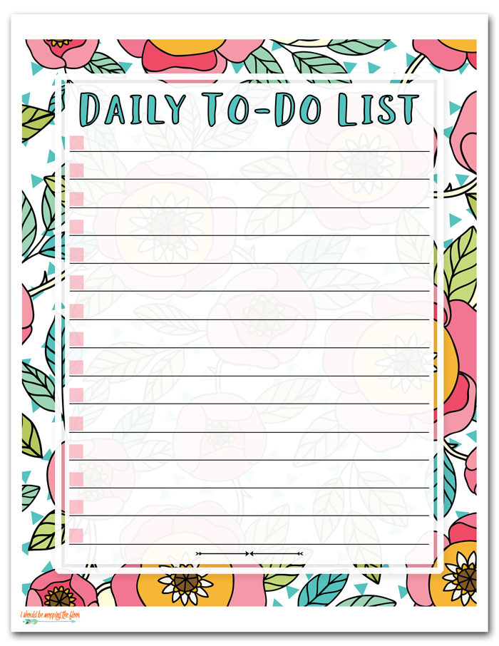 picture relating to Printable Daily to Do List titled Totally free Printable In direction of Do Listing i must be mopping the surface