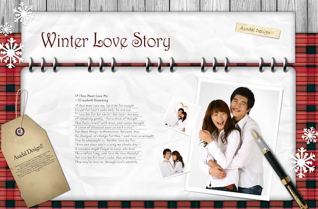 FREE PSD DOWNLOAD : Boy and girl inside brochure