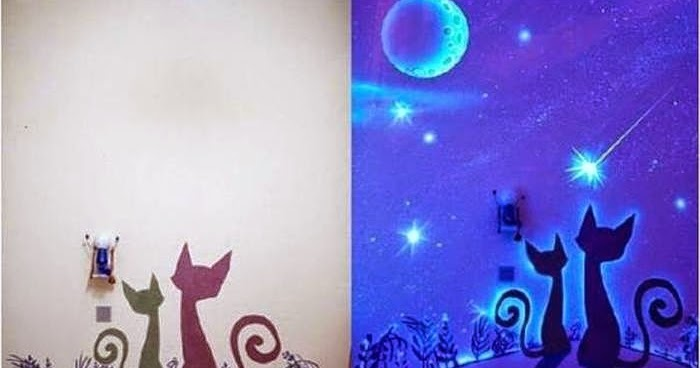Diy Glow In The Dark Paint Wall Murals Diy Craft Projects