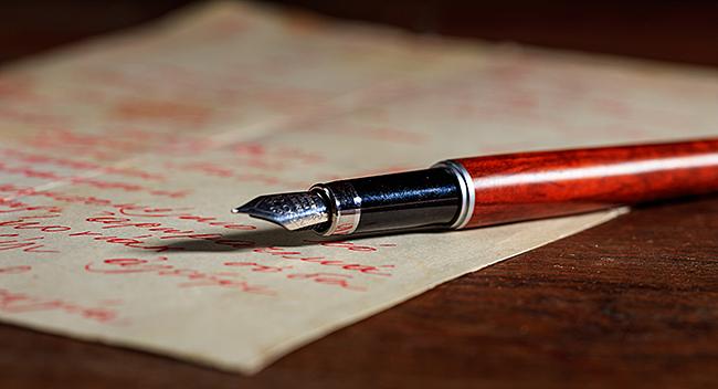 Yazı için kullanılacak kağıt ve mürekkep