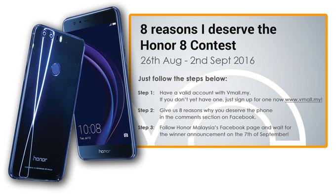 Kontest Komen dan Menang - 8 Sebab Kenapa Anda Layak Memiliki Honor 8