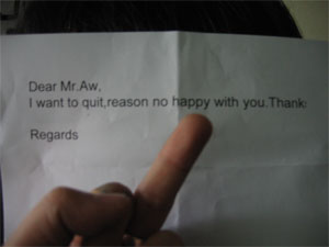 funny resignation letters