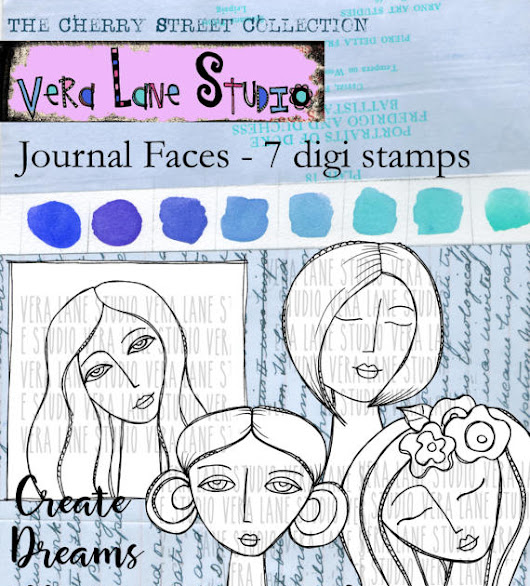 Vera Lane Studio: Journal Faces Pocket Letter