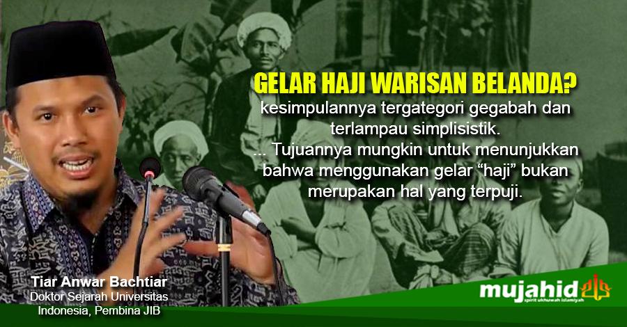 Gelar Haji waisan Belanda