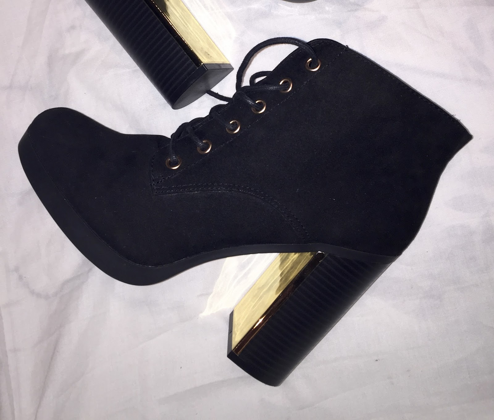 new look lace up detail block heel boots ese janta
