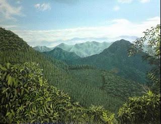 Pintores-paisajistas-Colombianos Camino hacia Angelopolis, Jorge Marin