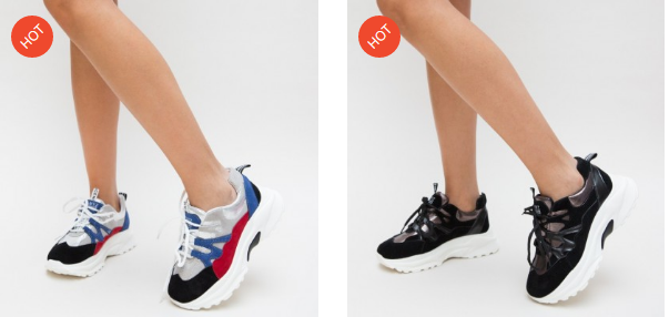 Adidasi femei moderni cu talpa groasa model nou ieftini