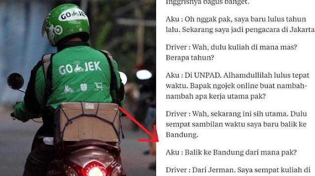 Driver Ojeg Online Lulusan Sarjana Universitas Jerman - Blog Mas Hendra