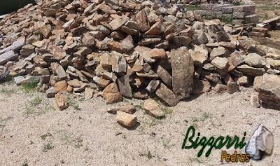 Pedra moledo para calçamento de pedra.