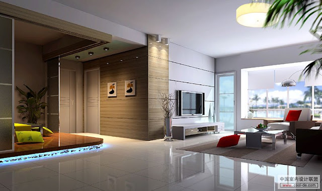 Amazing Modern Living Room Design Idea 2012