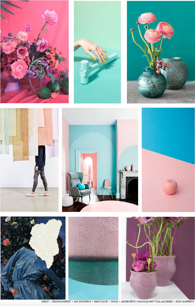 Color Blocking Mood Board from Accent Decor