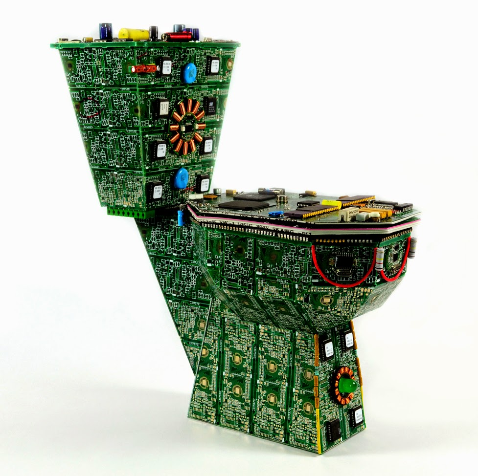 22-Toilet-Steven-Rodrig-Upcycle-PCB-Sculptures-from-used-Electronics-www-designstack-co