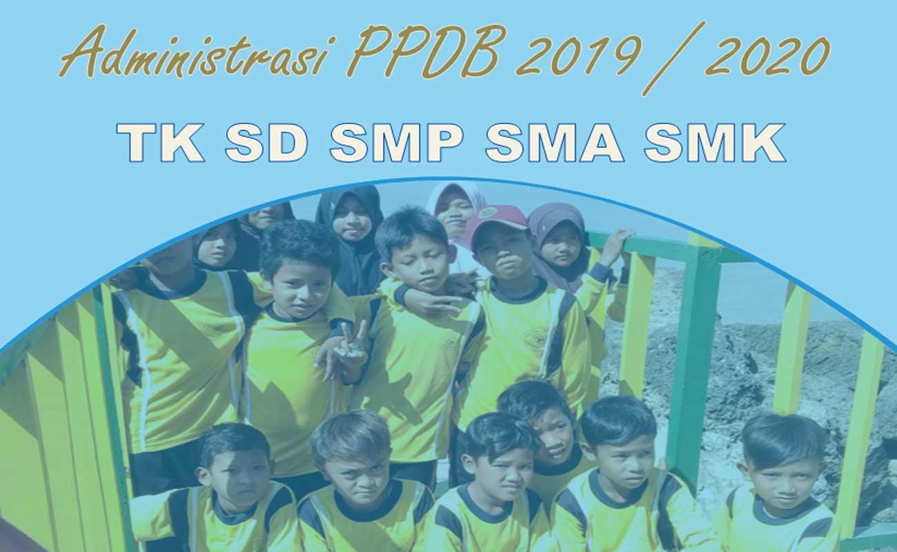 Contoh Administrasi PPDB 2019 Lengkap TK SD SMP SMA SMK