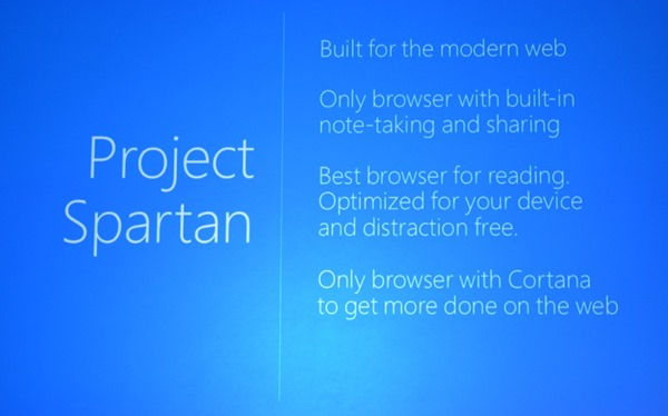 Spartan features on Windows 10