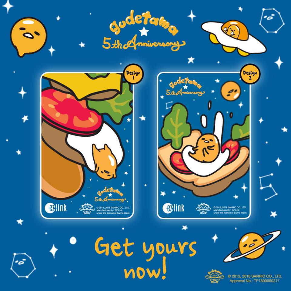 5th Anniversary Gudetama Ez Link Cards Launches In Singapore Tomica Disney Series Dream Star