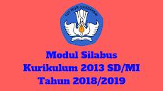 Modul Silabus Kurikulum 2013 SD/MI Tahun 2018/2019