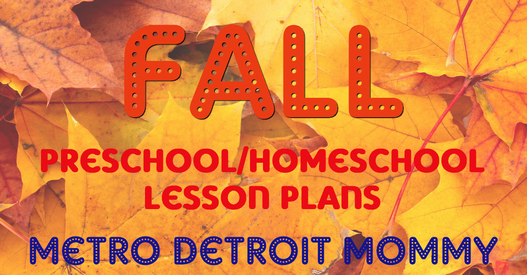 fall early childhood homeschooling lesson plans for toddlers