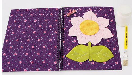 10 Ideas Hermosas Para Decorar Con Tela Cuadernos Y álbumes