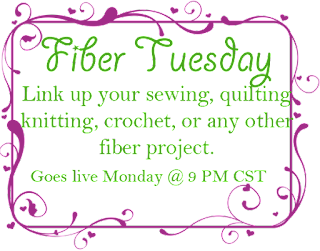 Fiber Tuesday Link Party for all fiber crafts