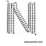 Patrón de letra N de ganchillo