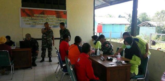 450 Warga Perbatasan Datangi Pengobatan Gratis TNI Di Senggi
