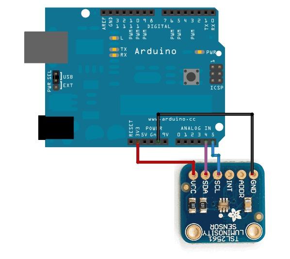 tsl2561 arduino
