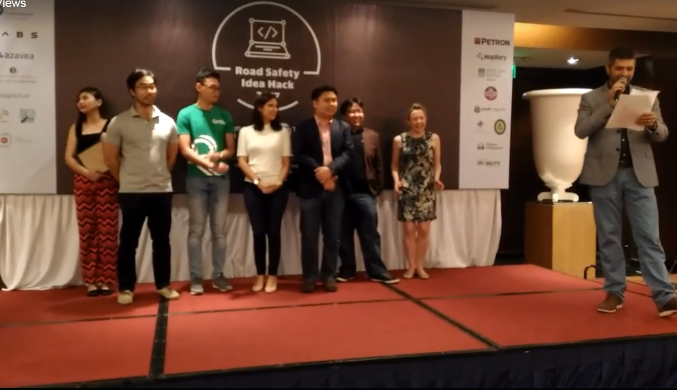 Road Safety Hack 2017 winners and their winning project