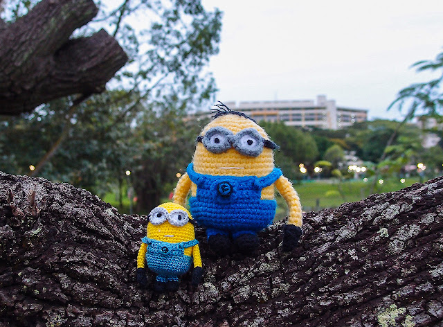 crocheted despicable me minionsamigurumi