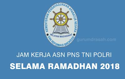 Jam Kerja ASN PNS TNI POLRI Selama Bulan Ramadhan 2018