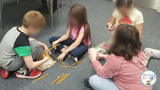Looking for a free STEM activity for the elementary classroom?  Teachers are loving STEM because it's fun, hands-on, and engaging. The challenges are great for team building.  This challenge is free and easy to implement.  Great for 1st, 2nd, 3rd, and 4th graders.  I usually use this challenge for back to school stem, but it can be done at any time.  Students will have a great time working together to discuss, design, build, and reflect. #elementaryisland #elementarystemactivities #freestem