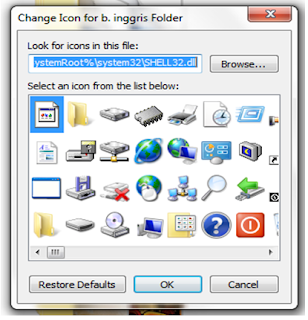 Menganti Icon windows