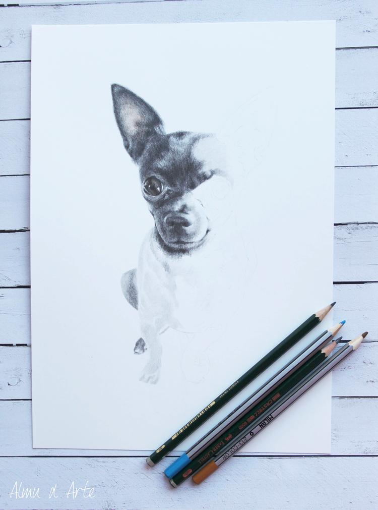 Dibujo paso a paso de un perro