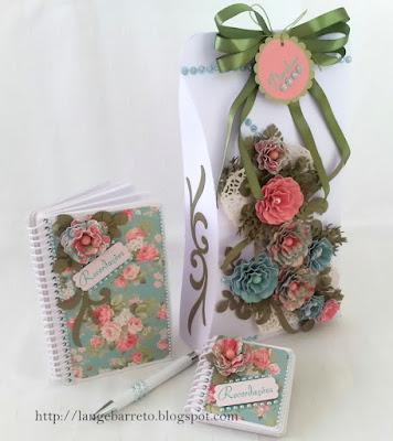 Kit recordação - Flores de papel