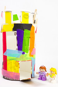 oatmeal container castles- easy recycled kids project