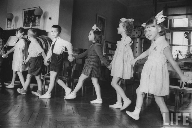 Soviet Children In The Kindergarten Of The 1960s Vintage