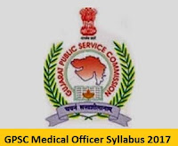 GPSC Medical Officer Syllabus