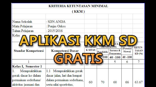 Aplikasi KKM SD Lengkap Kelas 1-6