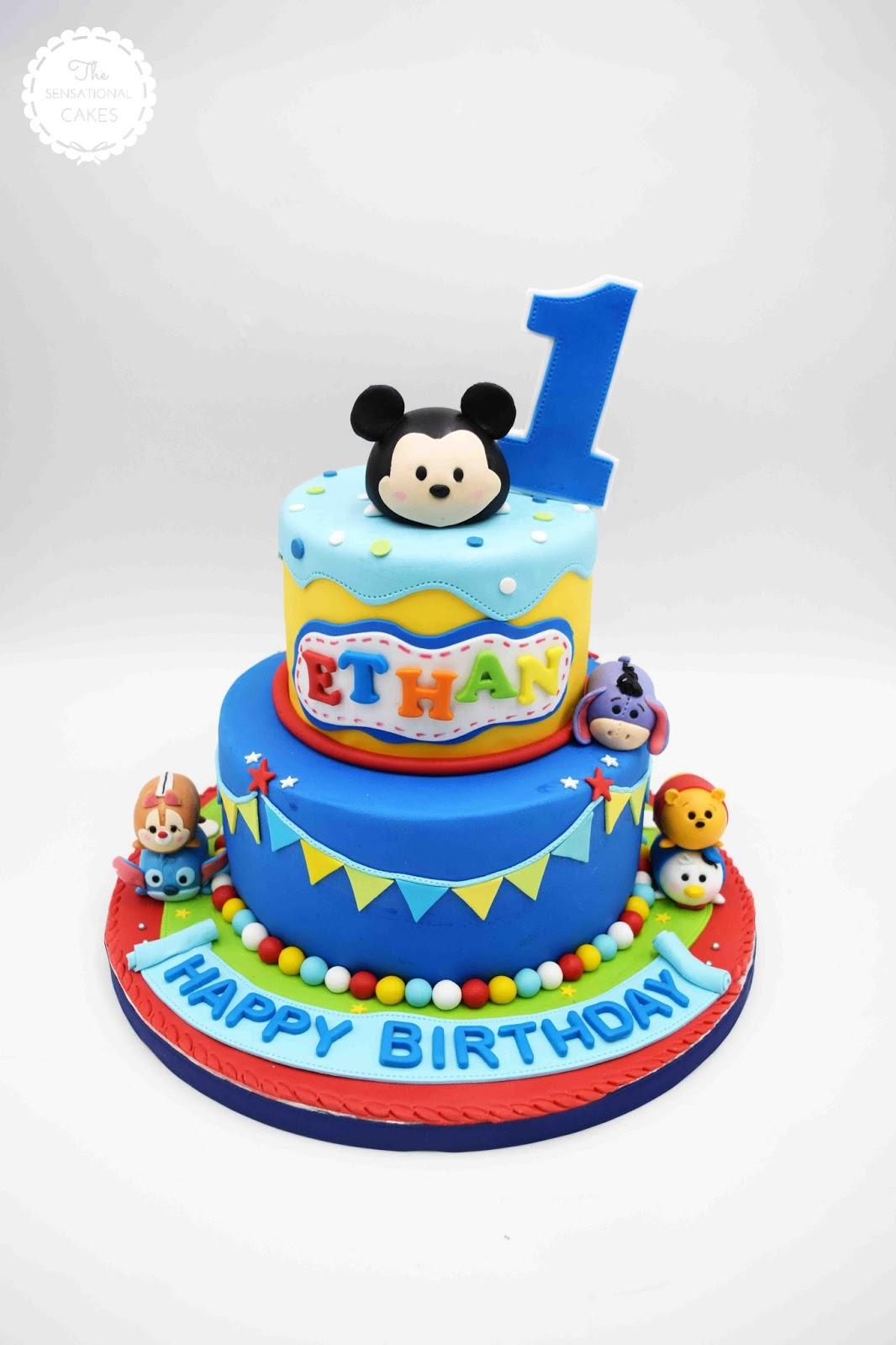 The Sensational Cakes Tsum Tsum Cartoons Baby Boy Birthday