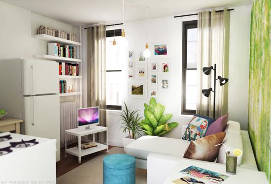 Tiny Studio Apartment Decoration My Paradissi Eleni Psyllaki