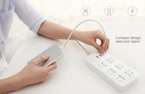 Xiaomi CXB6 Power Strip with 6 outlets and 3 USB ports