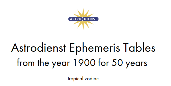 Ephemeris 1900 - 1949