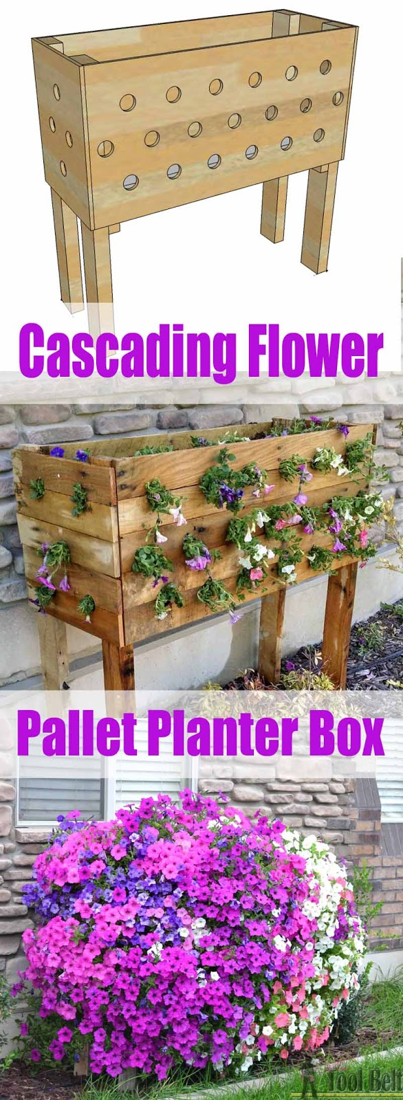 Build a simple planter box out of pallets and enjoy the blooms all summer long.