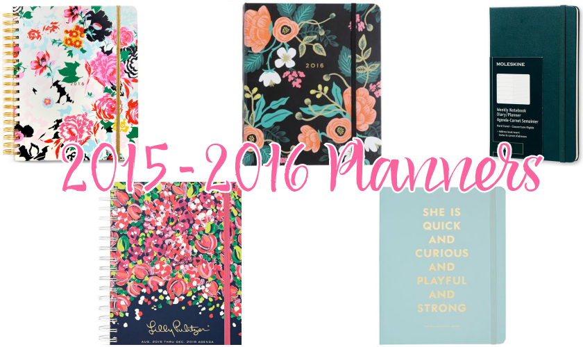 planners agendas organizers girly back to school 2016 kate spade rifle paper lilly pulitzer ban.do moleskine
