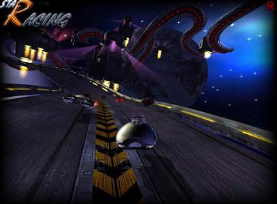 balap mobil di ruang angkasa