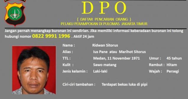 Inilah DPO Perampokan di Pulomas, Tangkap Hidup atau Mati! Bantu Share..