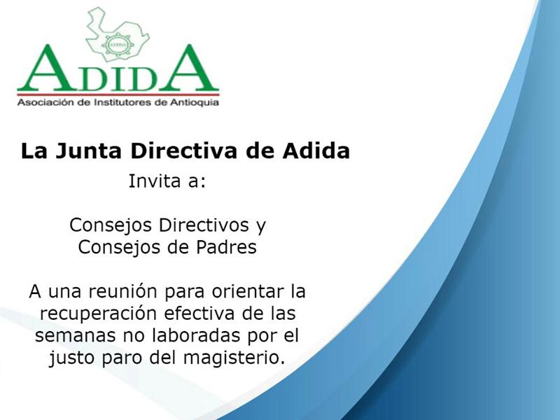 Invitación de la Junta Directiva de ADIDA