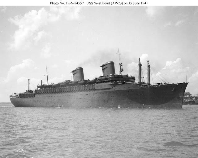 Troop transport USS West Point 15 June 1941 worldwartwo.filminspector.com