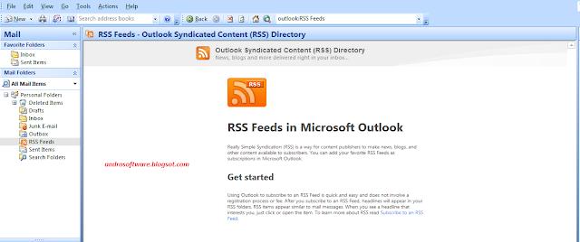gambar Berlangganan rss dengan outlook 2007 1